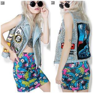 Iron Fist   Eyeballin Mini Skirt Size XL